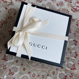 New Gucci Box w Ribbon Bow Jewelry Shoes Purse